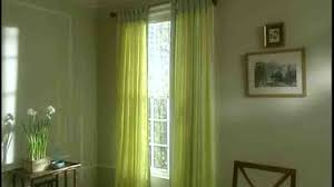 Hang Curtains Higher Than Window by Video How To Install Tab Top Curtains Martha Stewart