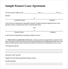 land lease agreement template pasture lease agreement template 6 free documents in