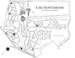 Map Cleveland Ohio by Lake View Cemetery