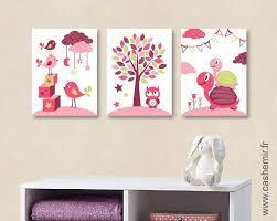 organisation chambre bébé lot de 3 illustrations pour chambre d enfant fille décoration