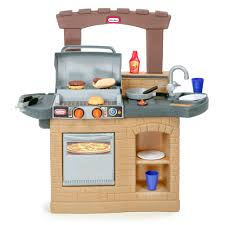 Outdoor Bbq Furniture by Tikes Cook U0027n Play Outdoor Bbq Playset