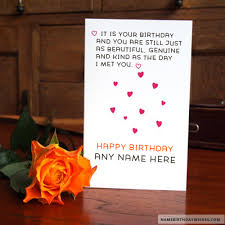 happy birthday quote on cards with name