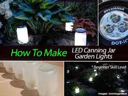 how to design garden lighting how to make led canning jar garden lights beginner level