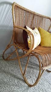 banquette rotin vintage fauteuils rotin be løppi
