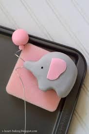 i heart baking elephant baby shower cake