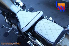 Diy Motorcycle Seat Upholstery Diamond Stitch Motorcycle Seat Upholstery By Upholstery Works In