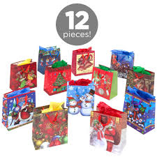 christmas gift bags set of 12 assorted 13 christmas gift bags select channel best