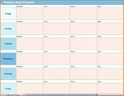 Meal Plan Excel Template Weekly Work Plan Template Excel Budget Template Letter