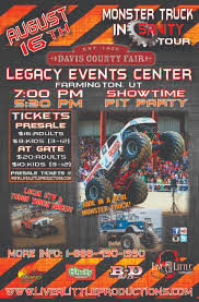monster truck show times monsters u2013 farmington ut u2013 august 16th u2013 live a little productions