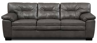 The Leather Factory Sofa Magnum Sofa Gray Value City Furniture And Mattresses