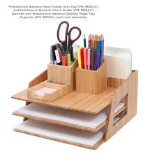 Revolving Desk Organizer by Amazon Com Mobilevision Office Desktop Bamboo Organizer For