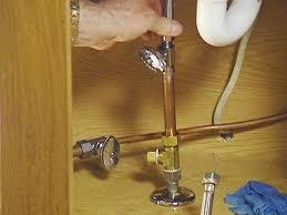 Kitchen Faucet Leaking Under Sink by Water Valves Under Kitchen Sink