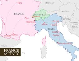 Italy On Map France And Italy Map Recana Masana