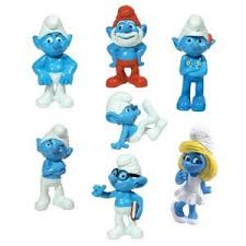 2011 the smurfs 1 5 inch figurines set of 7