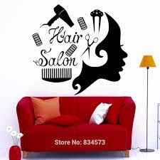 popular beauty art wall stickers buy cheap beauty art wall hairdressing hair comb scissors beauty wall art stickers decal home diy decoration decor wall mural removable