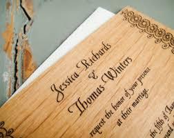 Engraved Wedding Invitations Engraved Wedding Invitation Keepsake Wood Wedding Invitation