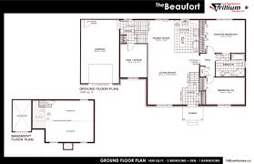trillium floor plan bungalows les habitations trillium homes inc