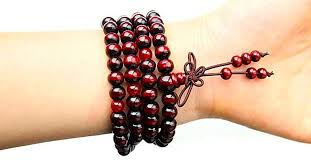 red prayer bead bracelet images Red sandalwood prayer beads backpack buddha jpg
