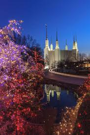 mormon temple festival of lights holiday lights at washington dc lds temple stock photo image of