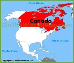 Map Of Canada Location Of Canada In World Map Lapiccolaitalia Info