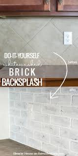 best 20 painting tile backsplash ideas on pinterest painted diy whitewashed faux brick backsplash