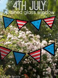 4th july stained glass window bunting window glass and craft