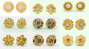 gold ear studs gold ear studs gold ear tops designs small tops