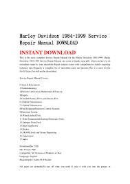 harley davidson 1984 1999 service repair manual download
