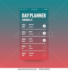time design planner day planner app ux ui design stock vector 1026136933 shutterstock