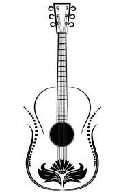 Guitar Tattoo Designs Ideas Guitar Put Ladybug Instead Of Flower To Represent Both My Kids