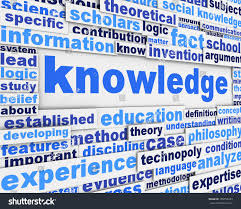 knowledge poster design education message conceptual stock