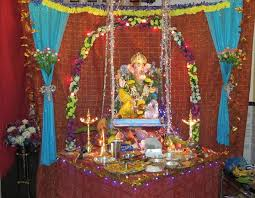 Home Temple Decoration Ideas Decoration Ideas For Ganesh Chaturthi Ganesh Decoration