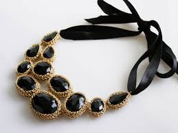 black necklace with gold images 56 black statement necklace buy clustered gems layered statement jpg