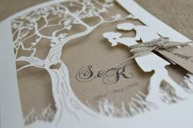 tree wedding invitations laser cut wedding invitation rustic wedding invitation laser cut