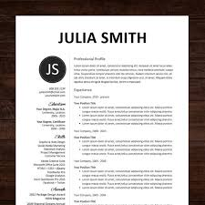 Word Resumes Templates Ms Word Resume Template Instant Download Need A Resume