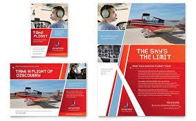aviation flight instructor flyer u0026 ad template design