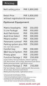 audi a3 maintenance cost audi pakistan begins deliveries of the 1 2 liter a3 pakwheels