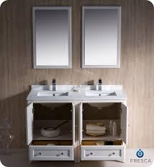 Cheap Vanity For Bathroom Bathroom Top Fresca Oxford 48 Double Sink Vanity Mahogany Finish