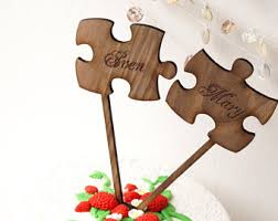 luxury cake topper etsy