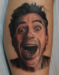 surprise open mouth men face tattoo best portrait golfian com