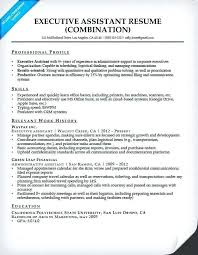 sample communications resume executive assistant resume sample