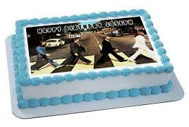 beatles cake toppers beatles road edible birthday cake topper