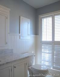 bathroom decoration using white bathroom wainscoting including