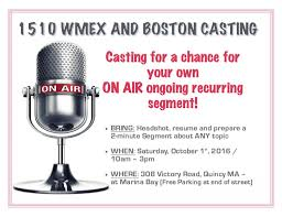 Radio Personality Resume Open Auditions In Boston For New Wmex Radio Personality