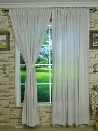 qyk246sag eos linen natural solid concealed tab top sheer curtains