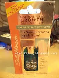 angelkawai u0027s diary review natural nail growth activator sally hansen