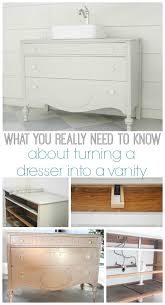 How To Replace Bathroom Vanity by How To Make A Dresser Into A Bathroom Vanity The Nitty Gritty