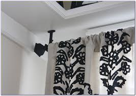 ceiling curtain rods mounts ceiling mount wood pole brackets