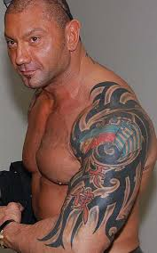 batista big arms big tattoos celebrity tattoo designs