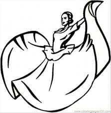 mexican coloring pages dancing mexican woman coloring page free mexico coloring pages